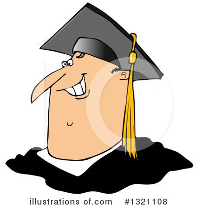 Royalty-Free (RF) Graduate Clipart Illustration by djart - Stock Sample #1321108