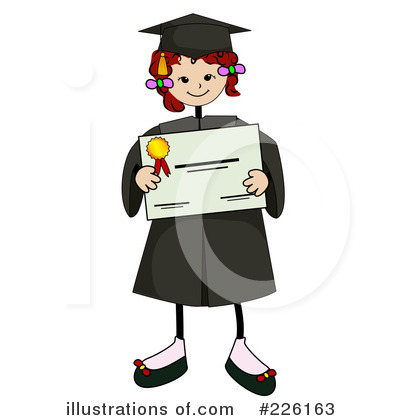 Royalty-Free (RF) Graduate Clipart Illustration by BNP Design Studio - Stock Sample #226163