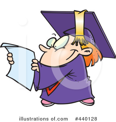 Graduate Clipart #440128 by toonaday