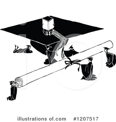 Royalty-Free (RF) Graduation Clipart Illustration by Prawny Vintage - Stock Sample #1207517