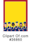 Royalty-Free (RF) Graduation Clipart Illustration #36860