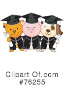 Royalty-Free (RF) graduation Clipart Illustration #76255