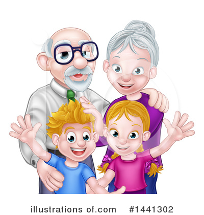 Family Clipart #1441302 by AtStockIllustration
