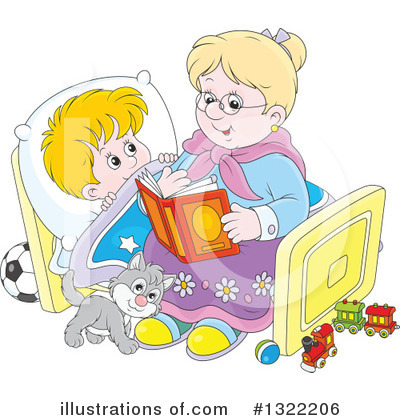 Reading Clipart #1322206 by Alex Bannykh