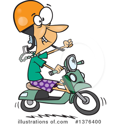 Scooter Clipart #1376400 by toonaday