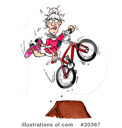 Bicycle Clipart #30367 by Spanky Art