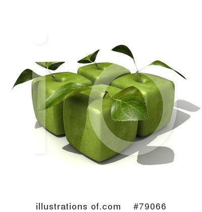 Granny Smith Apples Clipart #79066 by Frank Boston