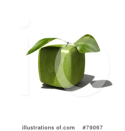 Royalty-Free (RF) Granny Smith Apples Clipart Illustration by Frank Boston - Stock Sample #79067