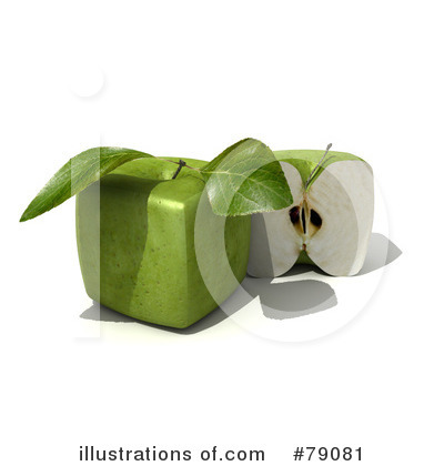 Granny Smith Apples Clipart #79081 by Frank Boston