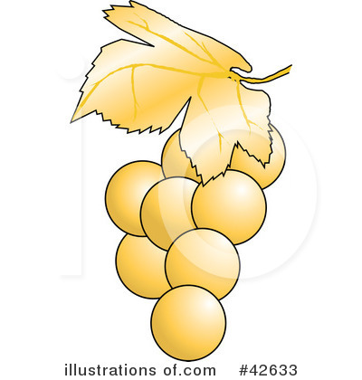 Grape Vine Clipart #42633 by Dennis Holmes Designs