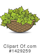 Grape Leaves Clipart #1429259 by Lal Perera