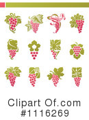 Royalty-Free (RF) Grapes Clipart Illustration #1116269