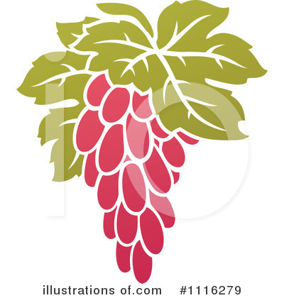 Royalty-Free (RF) Grapes Clipart Illustration by elena - Stock Sample #1116279