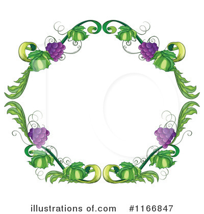 Grape Vine Clipart #1166847 by Graphics RF