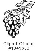 Grapes Clipart #1349603 by Vector Tradition SM
