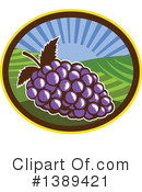 Grapes Clipart #1389421 by patrimonio