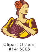 Grapes Clipart #1416306 by patrimonio