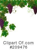 Royalty-Free (RF) Grapes Clipart Illustration #209476