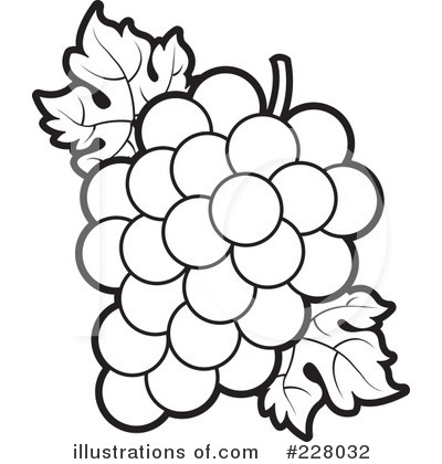 Royalty-Free (RF) Grapes Clipart Illustration by Lal Perera - Stock Sample #228032