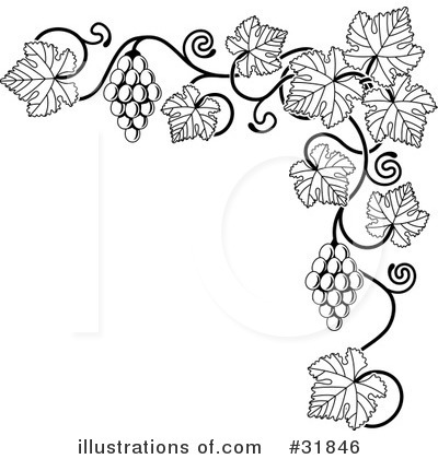 Grapes Clipart #31846 by AtStockIllustration