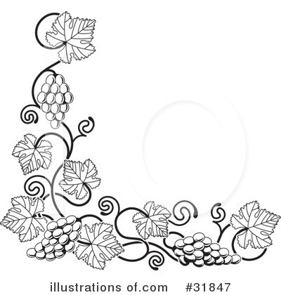 Grapes Clipart #31847 by AtStockIllustration