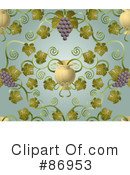 Royalty-Free (RF) Grapes Clipart Illustration #86953