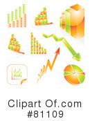 Royalty-Free (RF) Graph Clipart Illustration #81109