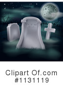 Royalty-Free (RF) Gravestone Clipart Illustration #1131119