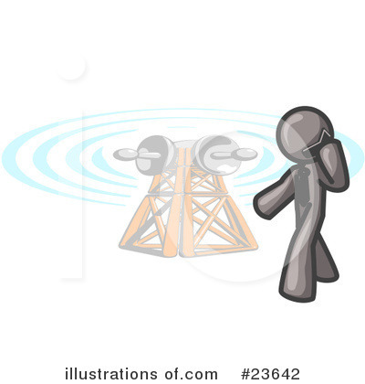 Communications Tower Clipart #23642 by Leo Blanchette