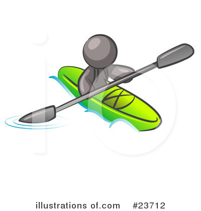 Kayaker Clipart #23712 by Leo Blanchette