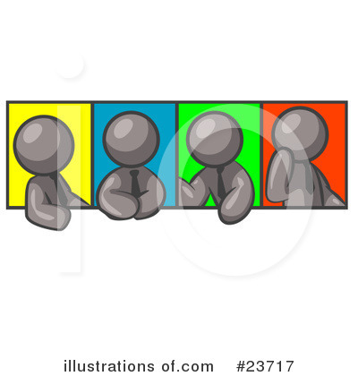 Colleagues Clipart #23717 by Leo Blanchette