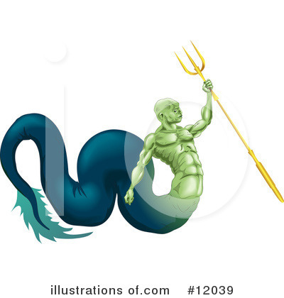 Poseidon Clipart #12039 by AtStockIllustration