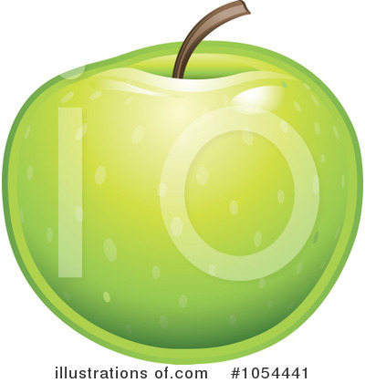 Granny Smith Apples Clipart #1054441 by TA Images