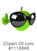 Royalty-Free (RF) green apple Clipart Illustration #1112848