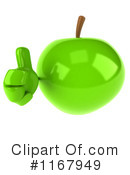 Royalty-Free (RF) green apple Clipart Illustration #1167949