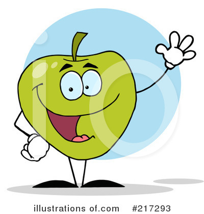 Granny Smith Apples Clipart #217293 by Hit Toon