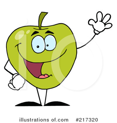 Granny Smith Apples Clipart #217320 by Hit Toon
