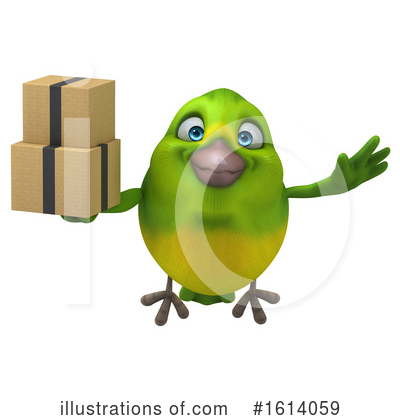 Green Bird Clipart #1614059 by Julos