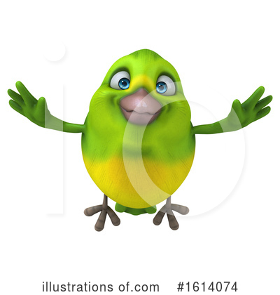 Green Bird Clipart #1614074 by Julos