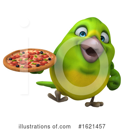 Green Bird Clipart #1621457 by Julos