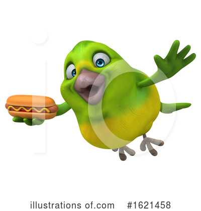 Green Bird Clipart #1621458 by Julos