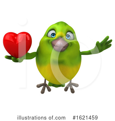 Green Bird Clipart #1621459 by Julos