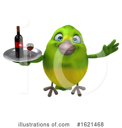 Green Bird Clipart #1621468 by Julos