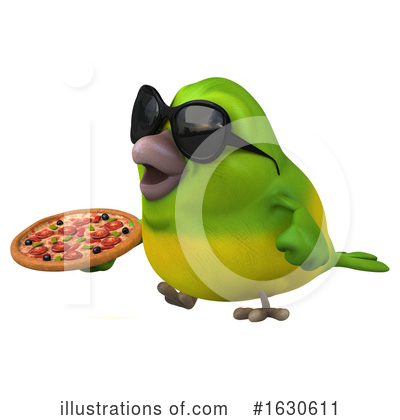 Royalty-Free (RF) Green Bird Clipart Illustration by Julos - Stock Sample #1630611