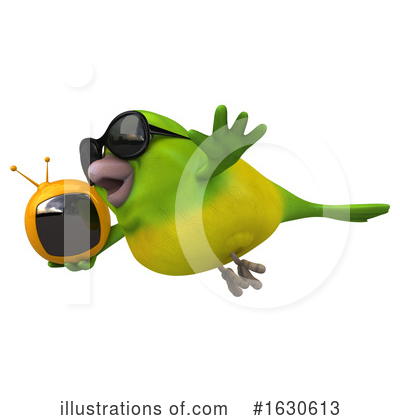 Royalty-Free (RF) Green Bird Clipart Illustration by Julos - Stock Sample #1630613