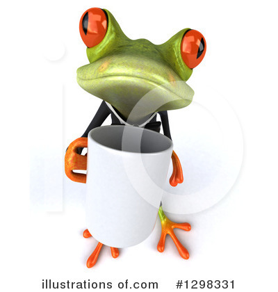 Royalty-Free (RF) Green Business Frog Clipart Illustration by Julos - Stock Sample #1298331