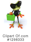 Green Business Frog Clipart #1298333 by Julos