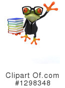 Green Business Frog Clipart #1298348 by Julos