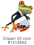 Green Business Frog Clipart #1313642 by Julos