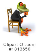Green Business Frog Clipart #1313650 by Julos